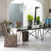 Antiqued Brass Serving Cart