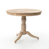 French Country White Wash Reclaimed Pine Wood Side Table
