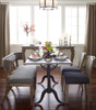 French country Bluestone top small dining table
