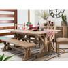 Coastal Rustic Solid Wood Trestle Dining Room