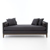 Kensington Charcoal Upholstered Double Chaise Lounge Daybed