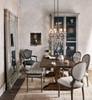 Lucille Batik Indigo Upholstered Dining Room Bench