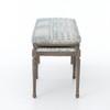 Lucille Batik Indigo Upholstered bedroom bench seat
