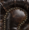 """Warner Leather 90"""" Chesterfield Sofa"""