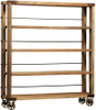Factory Rustic Industrial Rolling Bookcase