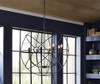Industrial metal Orb Chandelier with 8 Lights