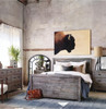 Caminito Grey Reclaimed Wood King Panel Beds