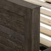 Grey Wood Panel Bed