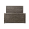 Caminito Grey Reclaimed Wood King Size Panel Bed Frame