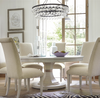 California Rustic Oak Large round extension dining table, White