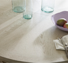 California Rustic Oak White large round dining table