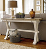 Coastal Beach White Drop Leaf Sofa Console Table