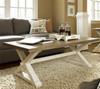 Coastal Beach White Oak Trestle Coffee Table