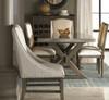 French Oak Nailhead Fabric Armchair