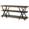 French Industrial Oak Wood + Metal TV Media Stand