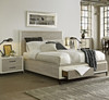 Modern Gray king size platform bed with storage