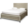 Modern Gray Queen Platform Storage Bed Frame