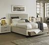 Modern Gray Queen size platform bed with storage