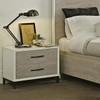Modern Gray and White nightstands with power outlet