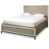 Modern Gray King Platform Storage Bed Frame