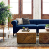 Kensington Navy Upholstered Chesterfield Sofa