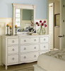 Country-Chic Maple Wood White nine drawer dresser