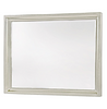Country-Chic Maple Wood Dresser Mirror-White