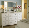 Country-Chic Maple Wood Bedroom Edgewood Mirror- White