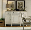 Country-Chic Maple Wood White Buffet Server Cabinet