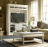 Country-Chic white lift top coffee table