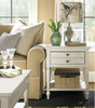 Country-Chic Maple Wood White  End Table with 1 Drawer