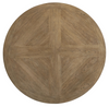 """French Modern Wooden Pedestal Round Dining Table 58"""""""