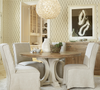 """French Modern White Wood Trestle Round Dining Table 58"""""""