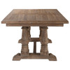 """Salvaged Reclaimed Wood Double Trestle Dining Table 76"""""""