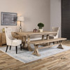 """Salvaged Rustic Wood Double Trestle Dining Table 76"""""""