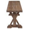 Distressed wood dining room bench sale