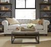"Universal Berkeley 98"" Tufted Linen Upholstered Chesterfield Sofa"