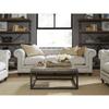 Berkeley Belgian Linen Upholstered Chesterfield Armchair