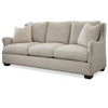 Connor Belgian Linen upholstered sofa with nailheads