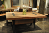"""Tyson Industrial Reclaimed Wood Dining Table 72"""""""