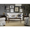 Maxwell Linen Upholstered Tufted Armchair with Nailheads