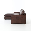 Larkin Vintage Cigar Leather Sectional couched with Chaise