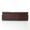 Larkin Vintage Cigar Leather Contemporary Sectionals
