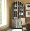 French Industrial Metal Curio Display Cabinet with glass doors