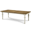 Country-Chic Wood 7 Piece White Expandable Dining Sets