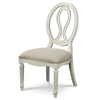 Country-Chic Maple Wood White Pierced Back Dining Side Chair