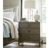 Playlist Vintage Brown Oak 3 Drawer Nightstands