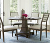 Playlist Vintage Oak Upholstered Dining Side Chair with nailhead