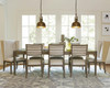 Playlist Vintage Oak Upholstered host and hostess chairs