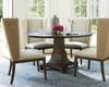 Playlist Vintage Oak Upholstered Dining Room Host Chair